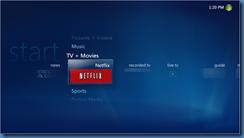 Netflix Tile in WMC UI
