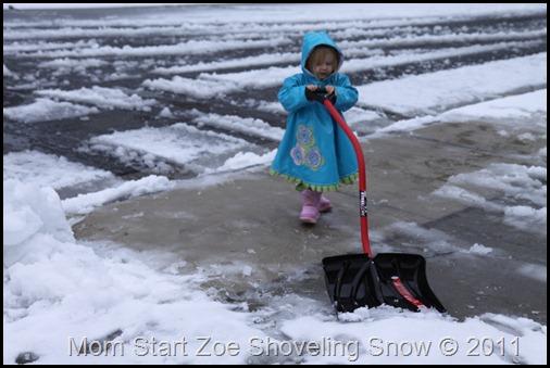 Zoe Shoveling Snow