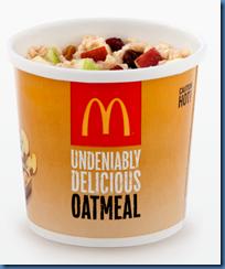 McDonalds Fruit and Maple Oatmeal