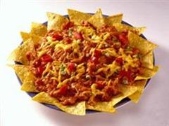 Cheesy Barbeque nachos