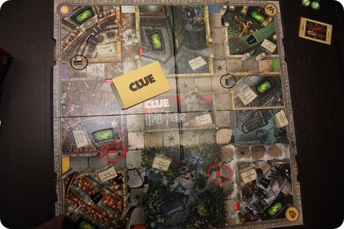 harry potter clue board