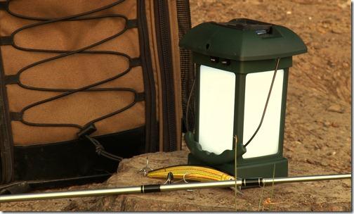 Outdoor Lantern Next to Bag