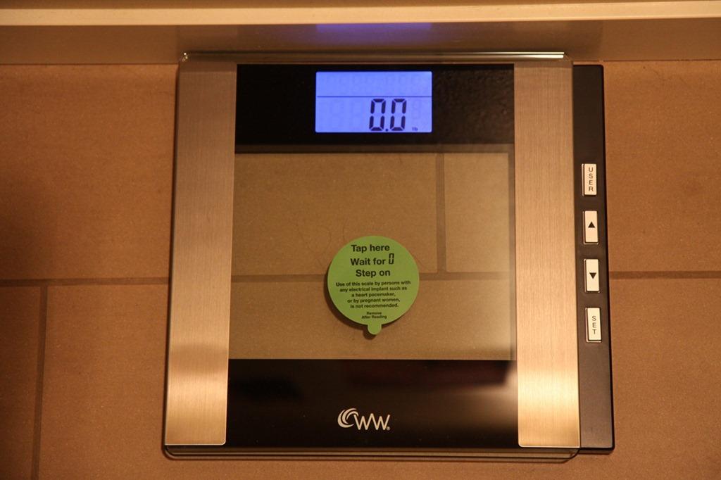 Weight Watchers Conair Glass Body Analysis Scale Model