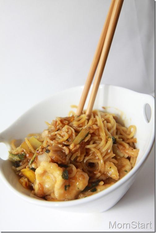 Garlic Chicken with Dan Dan Noodles