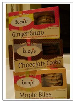 Lucy's gluten free cookies