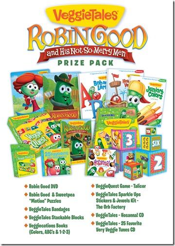 VeggieTales Robin Good Prize Pack