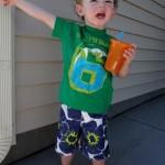 Land's End Boys Summer Floral Zip Pocket Board Shorts Swimwear Hip & Cute