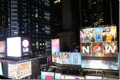 In The Middle Of Times Square Nightlife