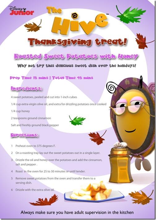 The Hive - Sweet Potato and Honey recipe