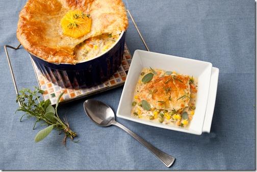 Florida Orange Chicken and Corn Pot Pie