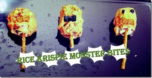 Rice Krispie Monster Bites