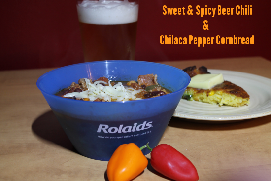 Sweet & Spicy Beer Chili &  Chilaca Pepper Cornbread