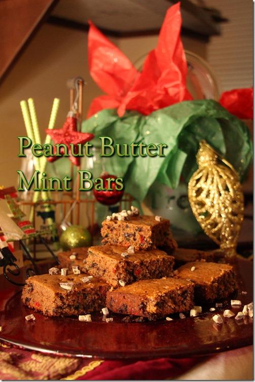 Peanut Butter Mint Bars