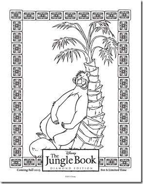 Jungle book coloring sheet