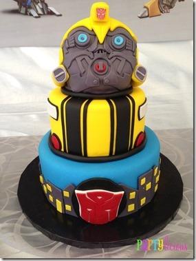 Partylicious Transformer cake