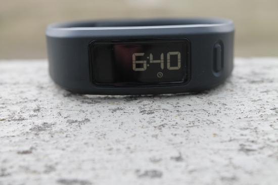 Vivofit displaying the time