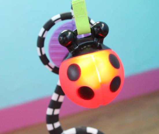 Ladybug toy lit up