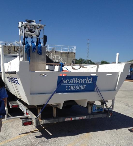SeaWorld rescue boat
