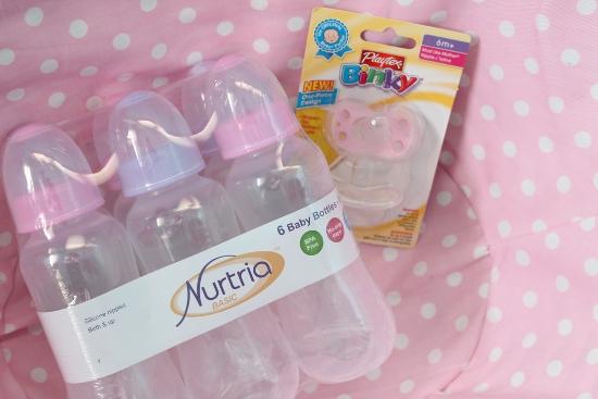 Baby binky & bottles
