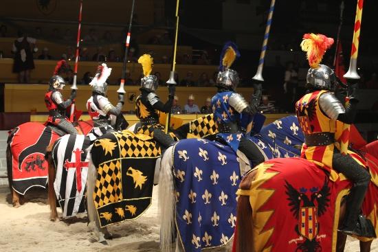 Knights on horses