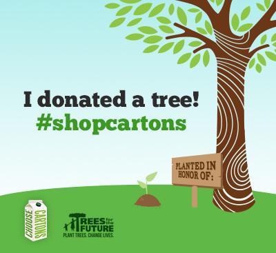 I donated a tree! #shopcartons