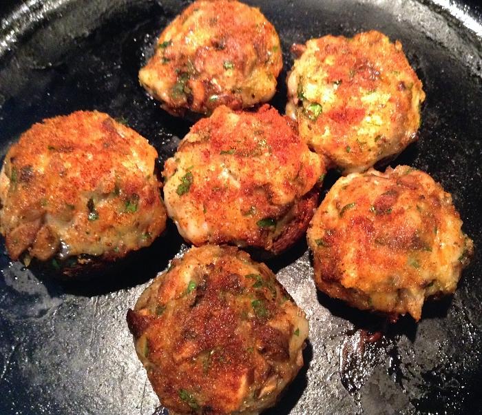 Baked Stuffed Mushrooms — with Shrimp