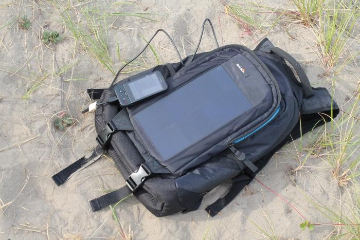 BirkSun charging an Android phone