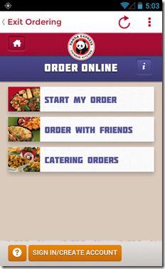 Panda Express Order on-line