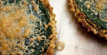 Spinach Tart with Garlic Sesame Crust
