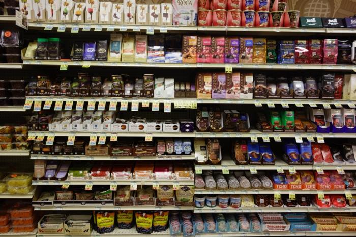 Chocolate aisle
