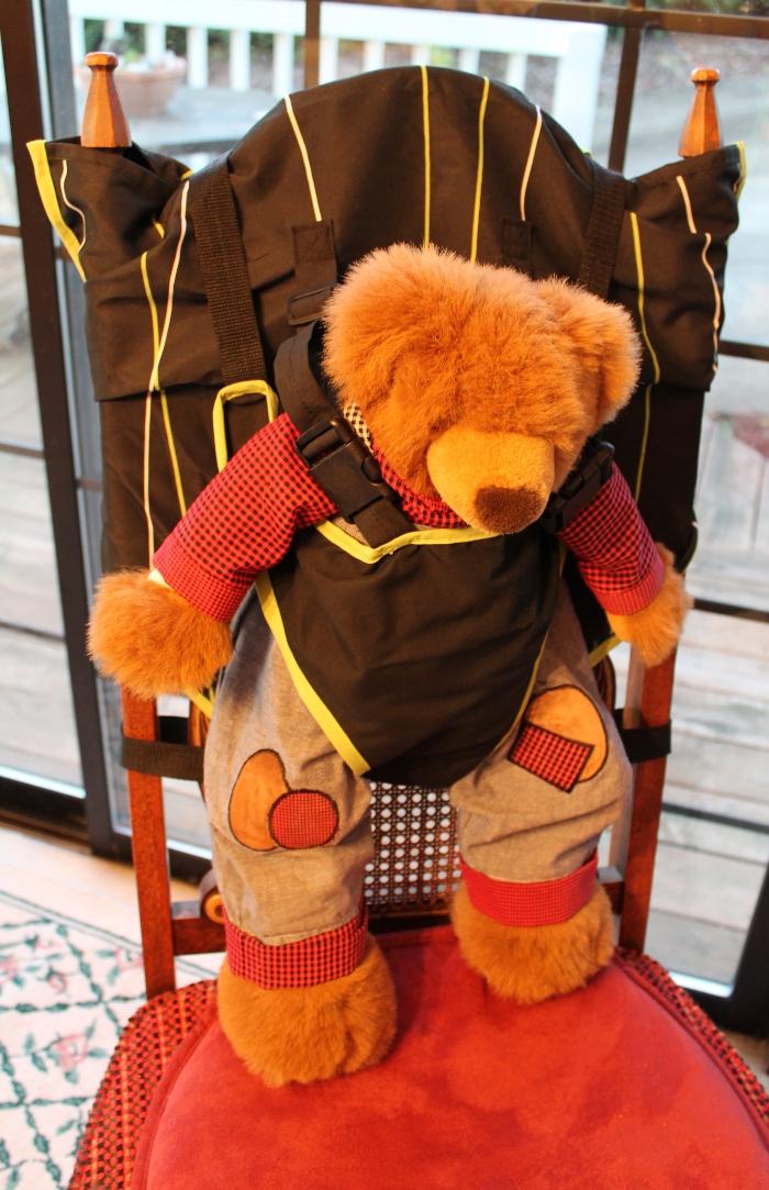Mr. Teddy Bear demos the Portable Easy Seat