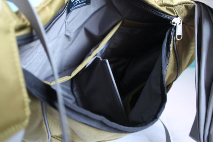 Slide bag - inside
