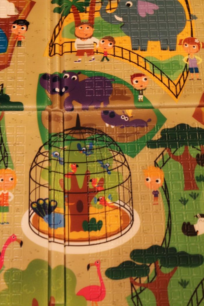 Zoo characters closeup