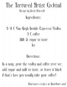 The Tortured Artist Cocktail Recipe