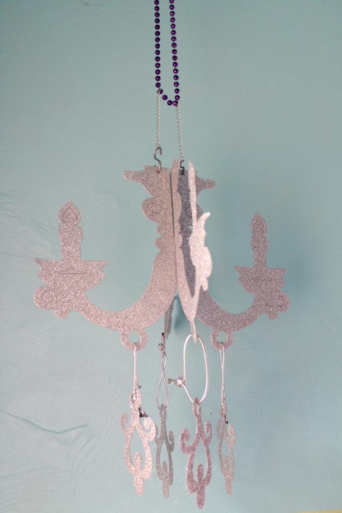 Glittery chandelier