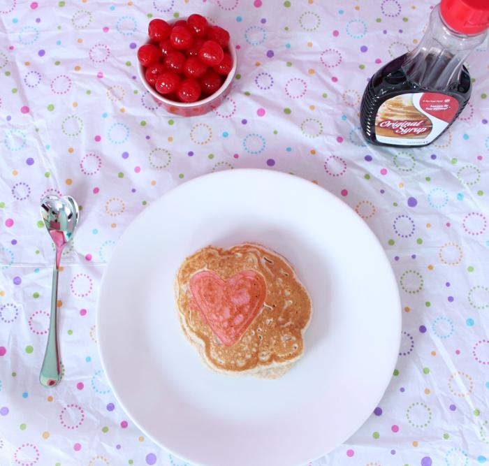 Heart-shaped pancake