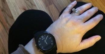 Wearing the Martian Notifier Smartwatch