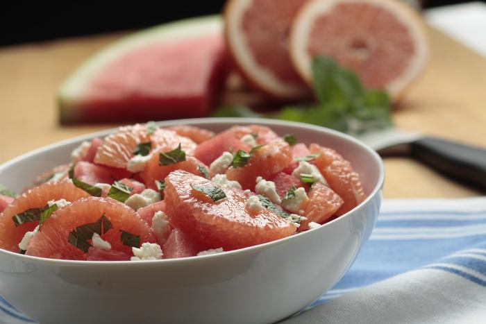 Grapefruit, Watermelon & Feta Salad