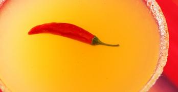 Bare Red Chili Martini Closeup