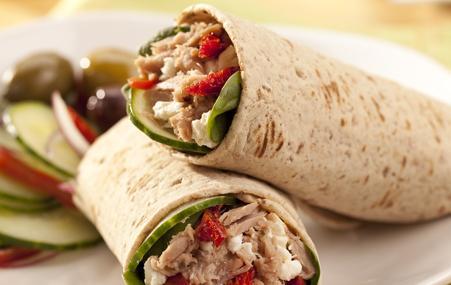Mediterranean Tuna Wrap