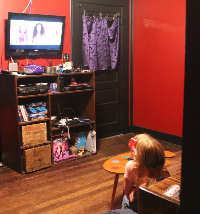 Zoe watching Mc2