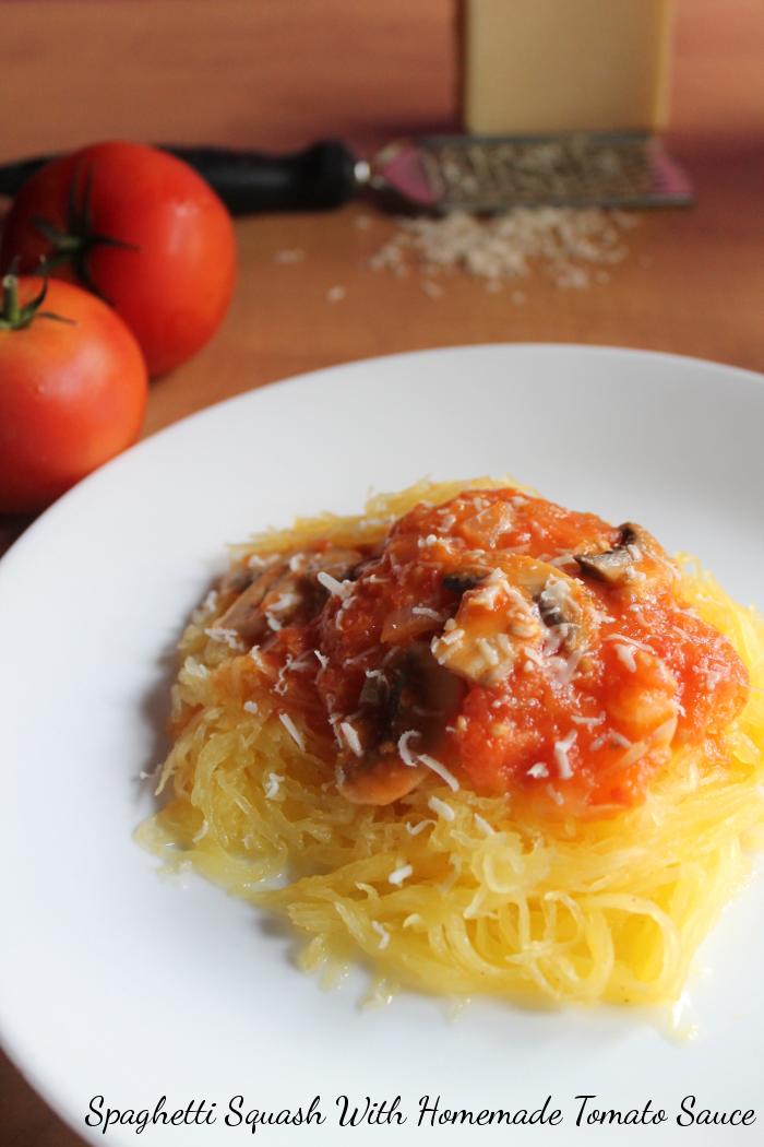 Spaghetti Squash With Homemade Tomato Sauce