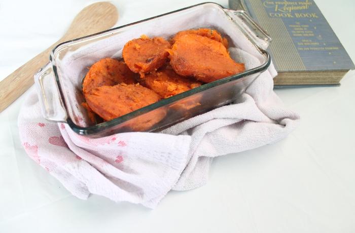 Casserole dish of yams
