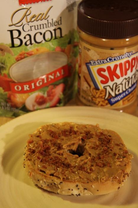 Peanut Butter Bacon Bagel