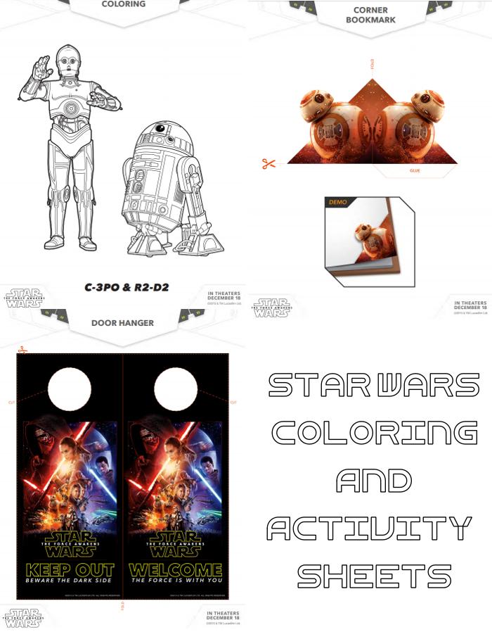 Star Wars Coloring & Activity Sheets