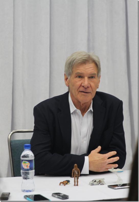 Harrison Ford sitting tall
