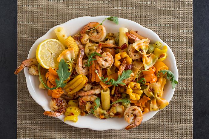 Plate of Shrimp Arribiatta