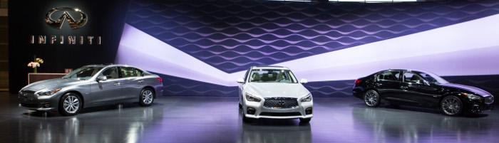 Infiniti presents three new Q50 sports sedan engines at the Chicago Auto Show