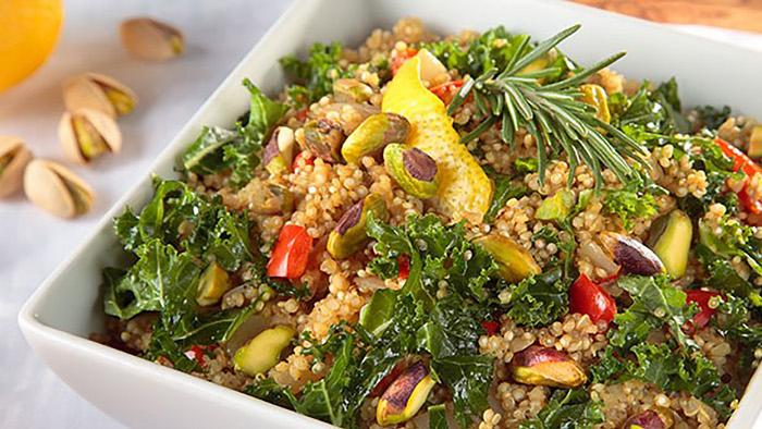 Quinoa Kale Risotto with Pistachios