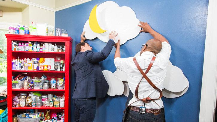 DIY cloud bookcases